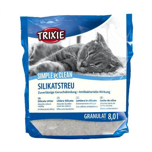 Наполнитель туалета для кошек Trixie Simple & Clean 8 л (силикагелевый)