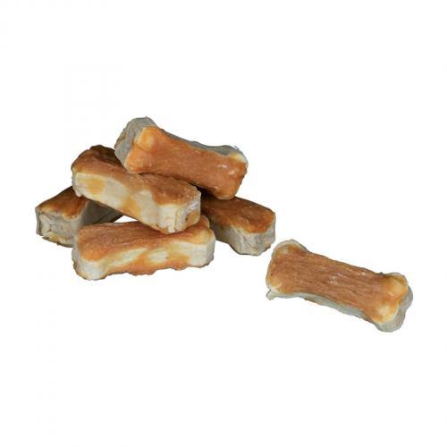 Ласощі для собак Trixie Кістка для чищення зубів з куркою Denta Fun 5 см 120 г (8 шт.)