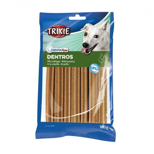 Ласощі для собак Trixie Denta Fun Dentros 180 г (домашня птиця)