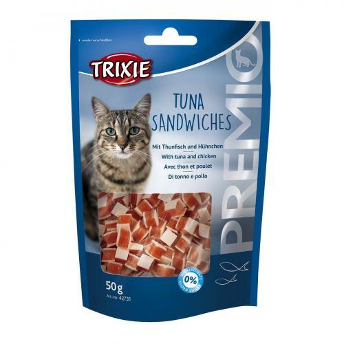 Лакомство для кошек Trixie PREMIO Tuna Sandwiches 50 г (курица и рыба)