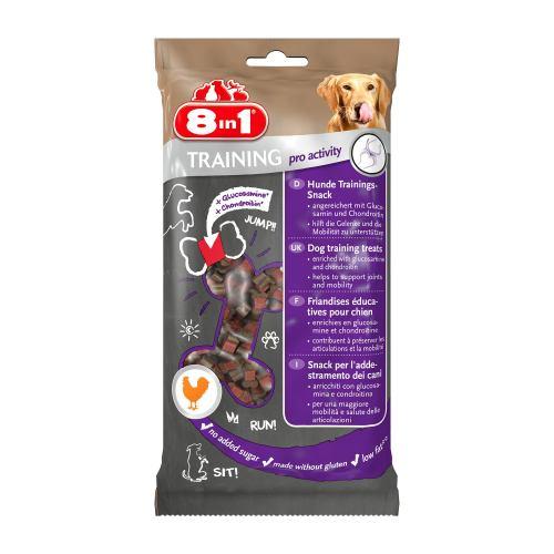 Ласощі для собак 8in1 Training Міні-кісточки 100 г (для суглобів)