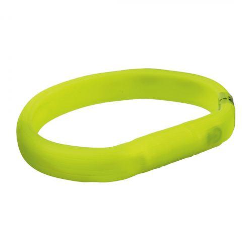 Ошейник Trixie силиконовый светящийся USB «Flash» M-L 50 cм / 18 мм (зелёный)