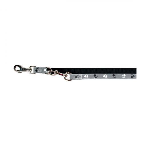 Поводок-перестёжка Trixie из нейлона «Silver Reflecte» L-XL 2 м / 25 мм (серый)