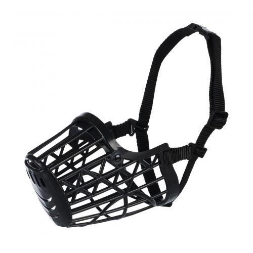 Намордник Trixie пластиковый M 20 см (чёрный)