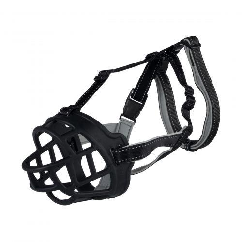 Намордник Trixie силиконовый «Muzzle Flex» M-L 22 см (чёрный)