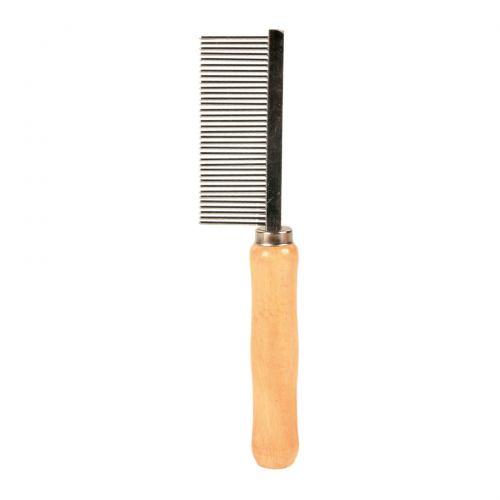 Расчёска Trixie с деревянной ручкой и средним зубом 18 см