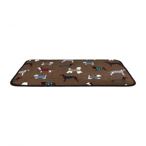 Килимок Trixie «FunDogs» 90 см / 68 см (коричневий)