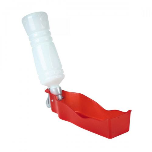 Пляшка дорожня, з мискою Trixie 700 мл (червона, чорна)