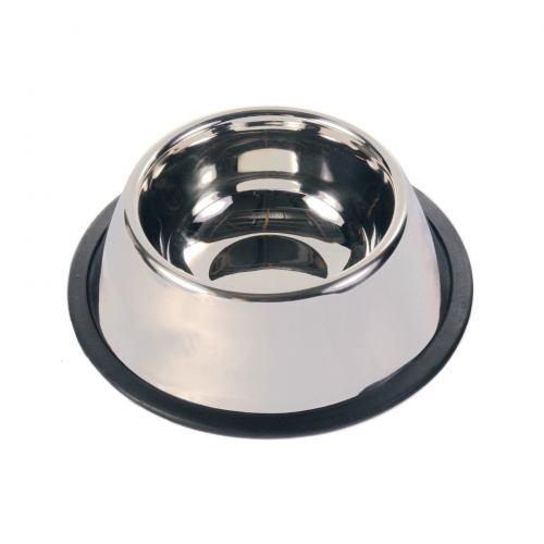 Миска металева для довговухих собак Trixie на гумовій основі 900 мл / 25 см