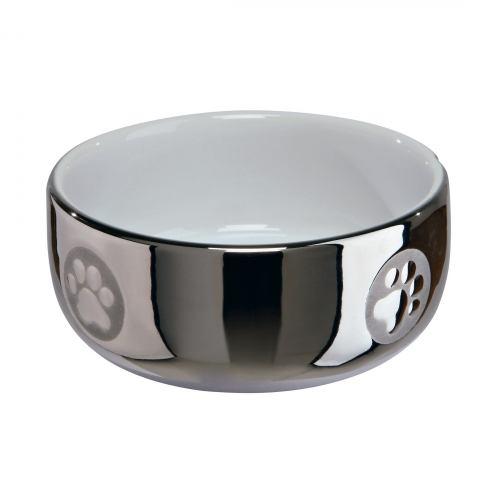 Миска керамічна Trixie 300 мл / 11 см (срібляста)
