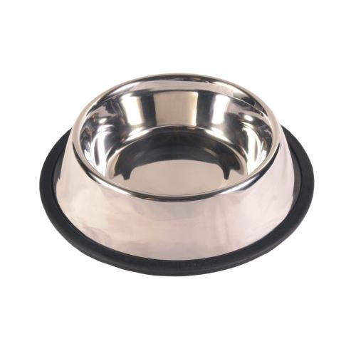 Миска металлическая Trixie на резиновой кромке 900 мл / 23 см