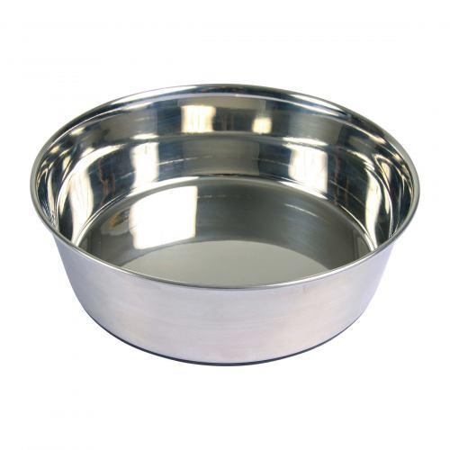 Миска металлическая Trixie на резиновом основании 1,7 л / 21 см