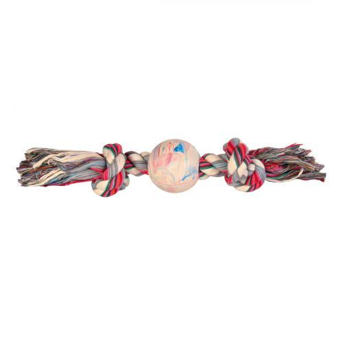 Игрушка для собак Trixie Канат плетёный с мячом 36 см, d:7 см (текстиль)