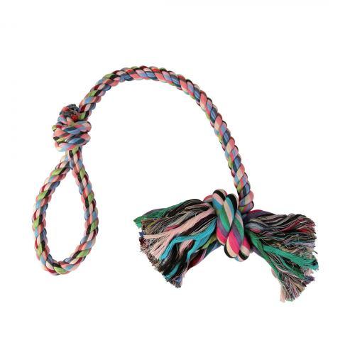 Игрушка для собак Trixie Канат плетёный с узлом 70 см (текстиль, цвета в ассортименте)
