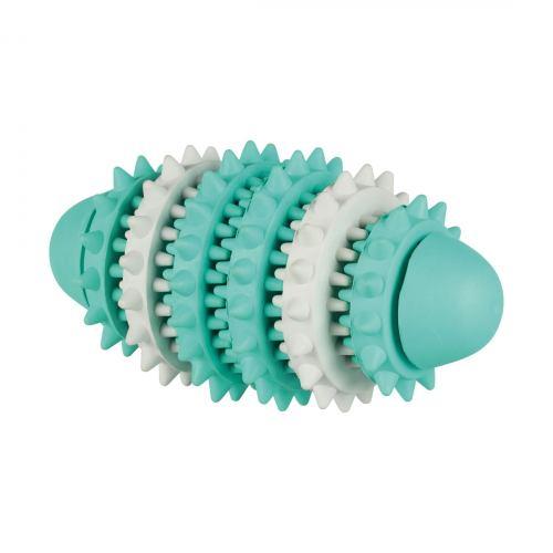 Игрушка для собак Trixie Мяч-катушка регби «Denta Fun» 15 см (резина)