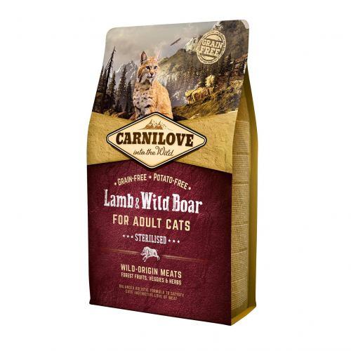 Сухой корм для стерилизованных кошек Carnilove Cat Lamb & Wild Boar - Sterilised 2 кг (ягненок и кабан)