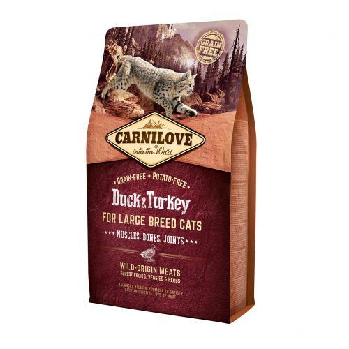 Сухой корм для кошек крупных пород Carnilove Cat Duck & Turkey Large Breed 2 кг (утка и индейка)