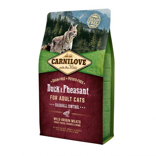 Сухой корм для выведения шерсти у кошек Carnilove Cat Duck & Pheasant - Hairball Controll 2 кг (утка и фазан)