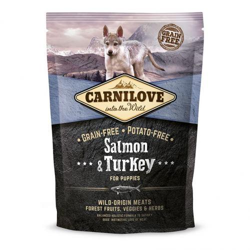 Сухой корм для щенков всех пород Carnilove Salmon & Turkey Puppy 1,5 кг (лосось и индейка)