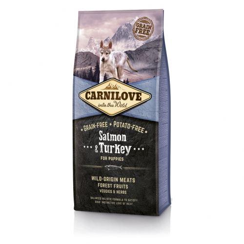 Сухой корм для щенков всех пород Carnilove Salmon & Turkey Puppy 12 кг (лосось и индейка)