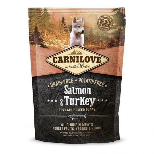 Сухой корм для щенков и молодых собак крупных пород (весом от 25 кг) Carnilove Salmon & Turkey Large Breed Puppy 1,5 кг (лосось и индейка)