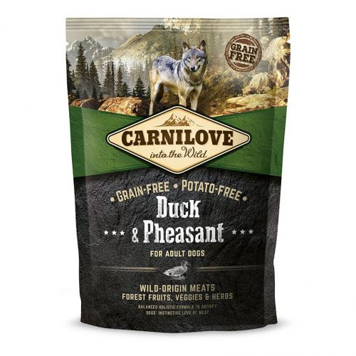 Сухий корм для дорослих собак всіх порід Carnilove Duck & Pheasant 1,5 кг (качка та фазан)