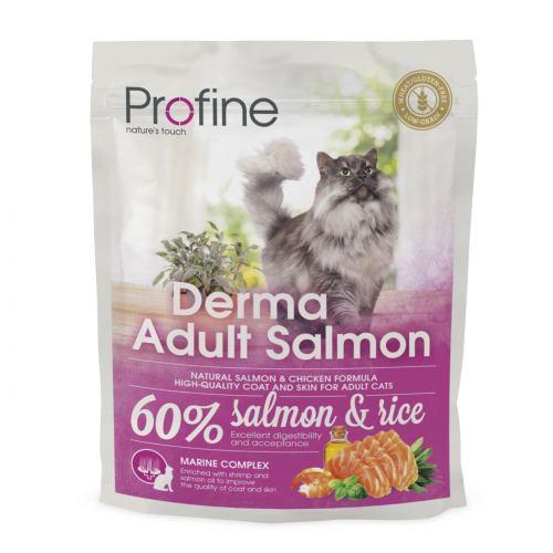 Сухий корм для котів, шерсть яких вимагає додаткового догляду Profine Cat Derma 300 г (лосось)