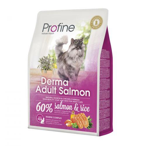 Сухой корм для кошек, шерсть которых требует дополнительного ухода Profine Cat Derma 2 кг (лосось)