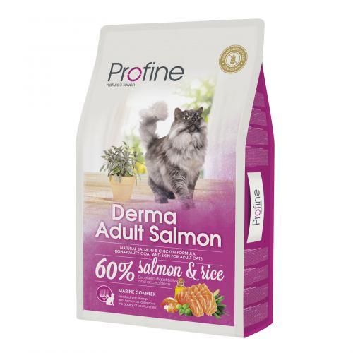 Сухий корм для котів, шерсть яких вимагає додаткового догляду Profine Cat Derma 10 кг (лосось)