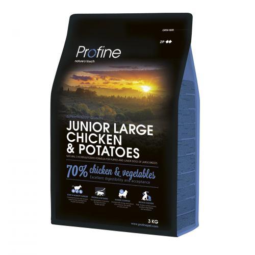 Сухий корм для цуценят та молодих собак великих порід (вагою від 25 кг) Profine Junior Large Breed Chicken 3 кг (курка)
