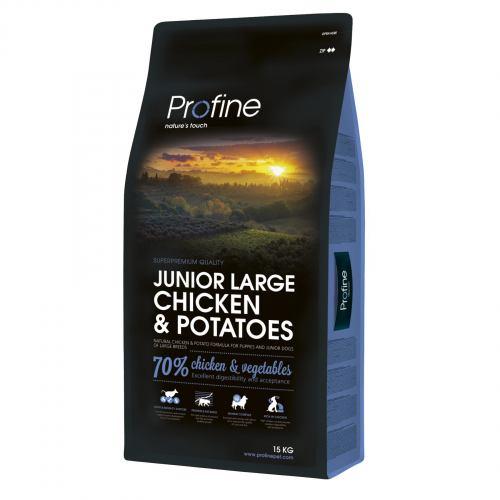 Сухий корм для цуценят та молодих собак великих порід (вагою від 25 кг) Profine Junior Large Breed Chicken 15 кг (курка)