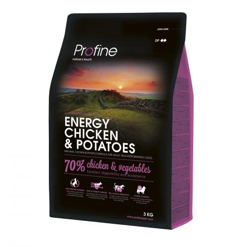 Сухий корм для активних собак всіх порід Profine Energy Chicken 3 кг (курка)