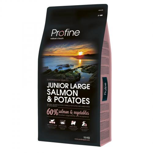 Сухой корм для щенков и молодых собак (весом от 25 кг) Profine Junior Large Breed Salmon 15 кг (лосось)