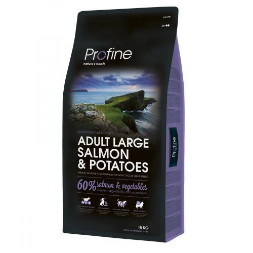 Сухий корм для дорослих собак великих порід (вагою від 25 кг) Profine Adult Large Breed Salmon 15 кг (лосось)