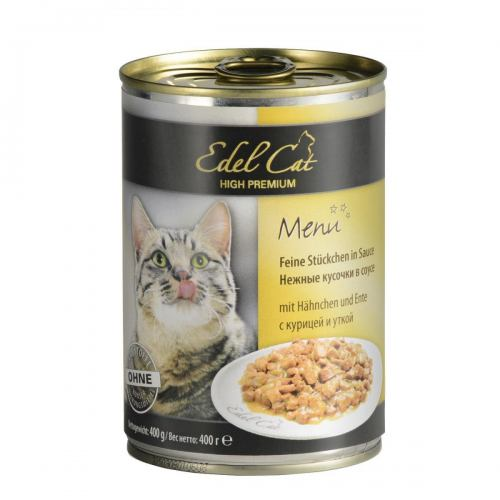Вологий корм для котів Edel Cat 400 г (курка та качка в соусі)