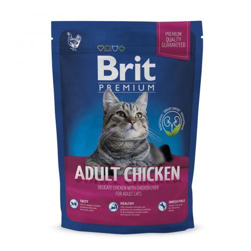 Сухий корм для котів Brit Premium Cat Adult Chicken 800 г (курка)
