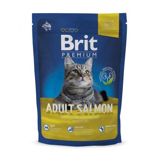 Сухий корм для котів Brit Premium Cat Adult Salmon 800 г (лосось)