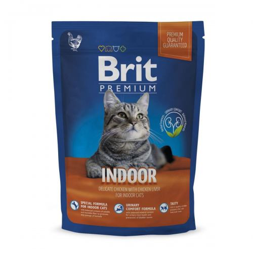 Сухий корм для котів, які живуть в приміщенні Brit Premium Cat Indoor 800 г (курка)