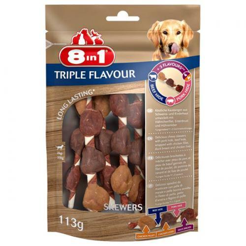 Ласощі Triple Flavour шашлички, 6 шт, 113г,  8in1