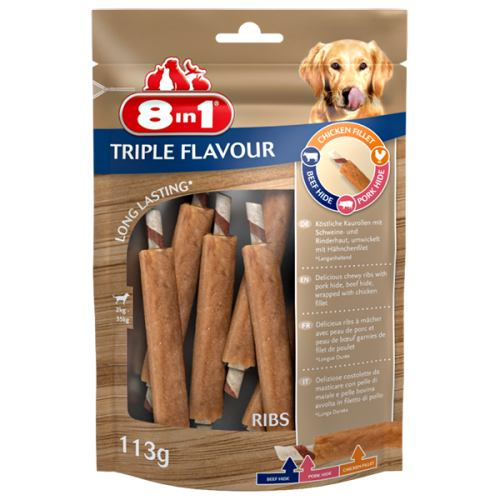 Ласощі Triple Flavour реберця, 6 шт, 113г, 8in1