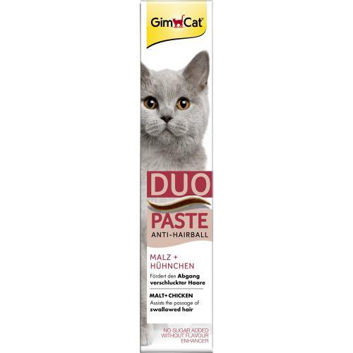 Ласощі для котів GimCat Anti-Hairball Duo-Paste Chicken + Malt 50 г (для виведення шерсті)