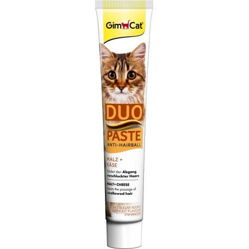 Лакомство для кошек GimCat Anti-Hairball Duo Paste Cheese + Malt 50 г (для выведения шерсти)
